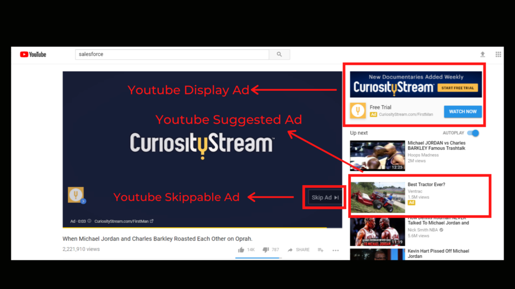 YouTube Display Ad example - MarketingBeku